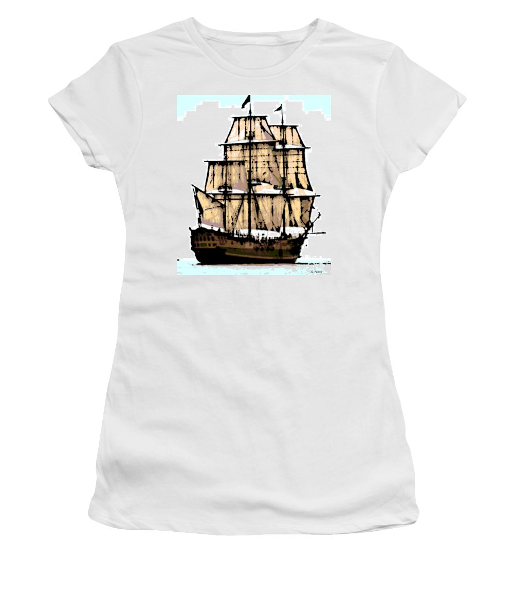 Boat Women's T-Shirt featuring the photograph Vintage Sails by George Pedro