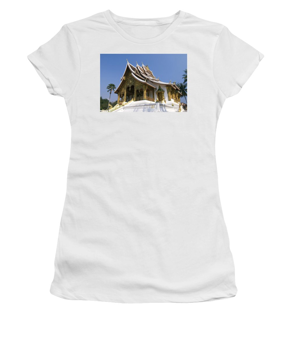 Architecture Women's T-Shirt (Athletic Fit) featuring the photograph Wat Sen II by Gloria & Richard Maschmeyer