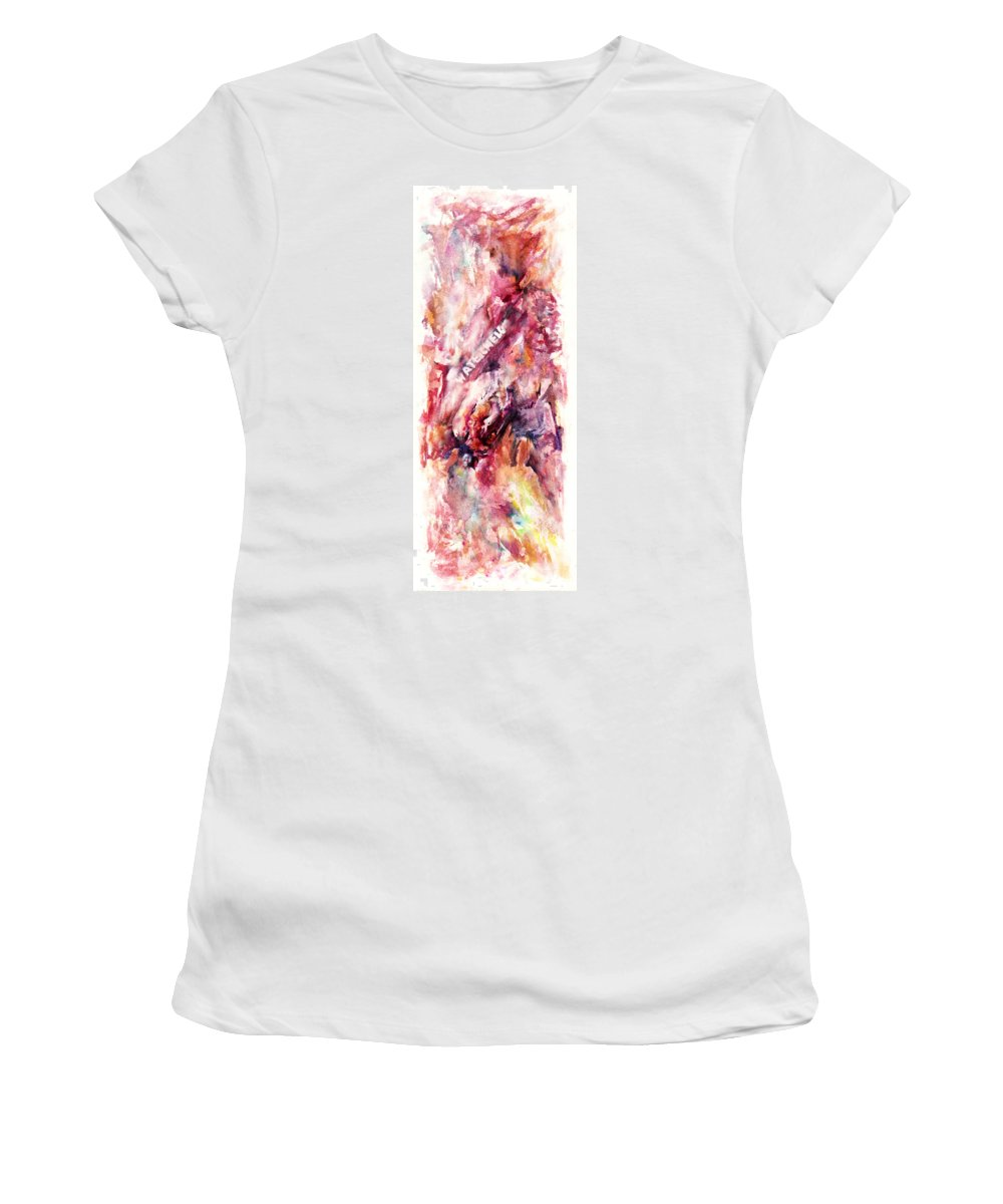 Candy Women's T-Shirt (Athletic Fit) featuring the painting Watermelon by Rachel Christine Nowicki