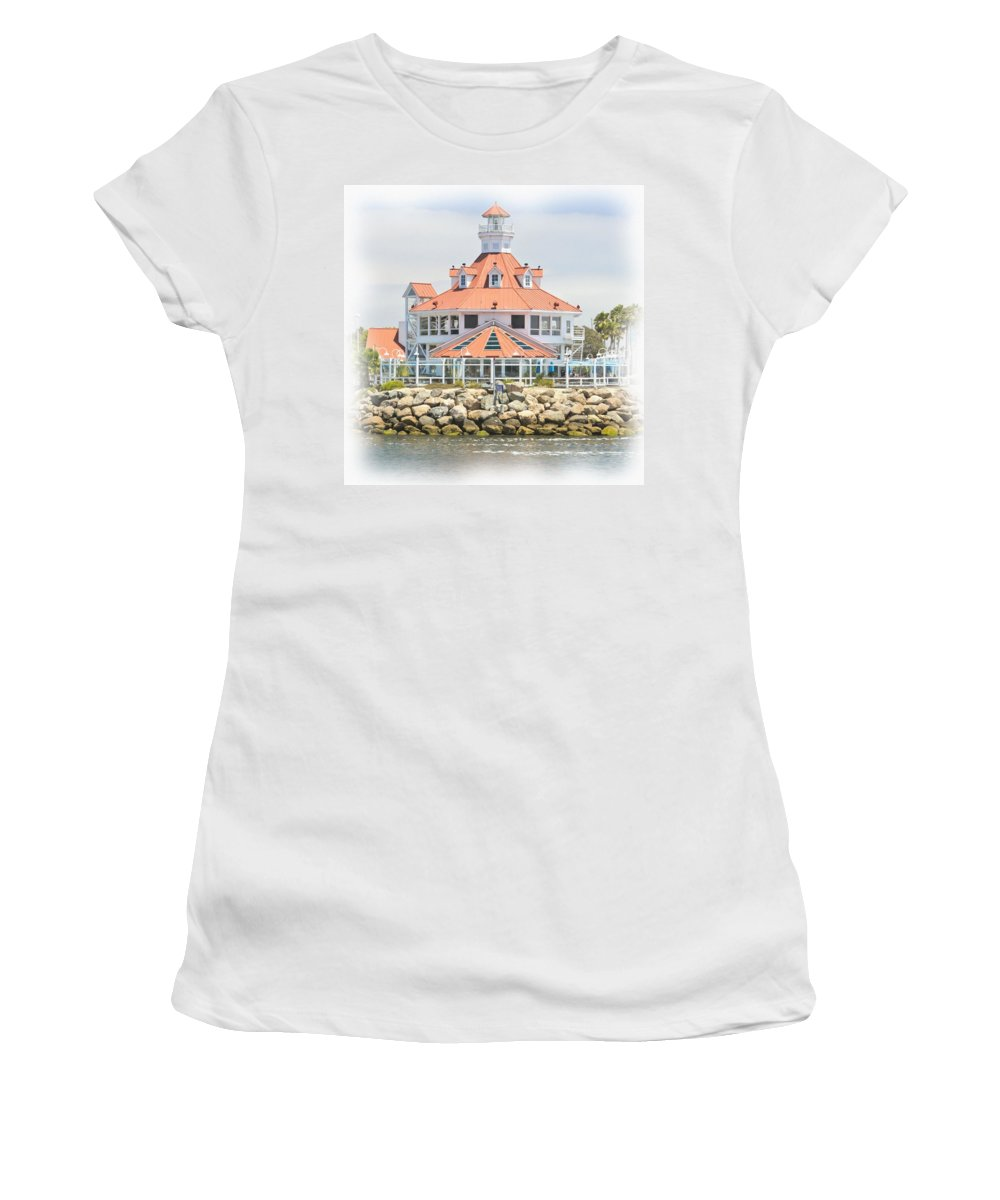 Lighthouse Women's T-Shirt (Athletic Fit) featuring the photograph West Coast Charm by Heidi Smith