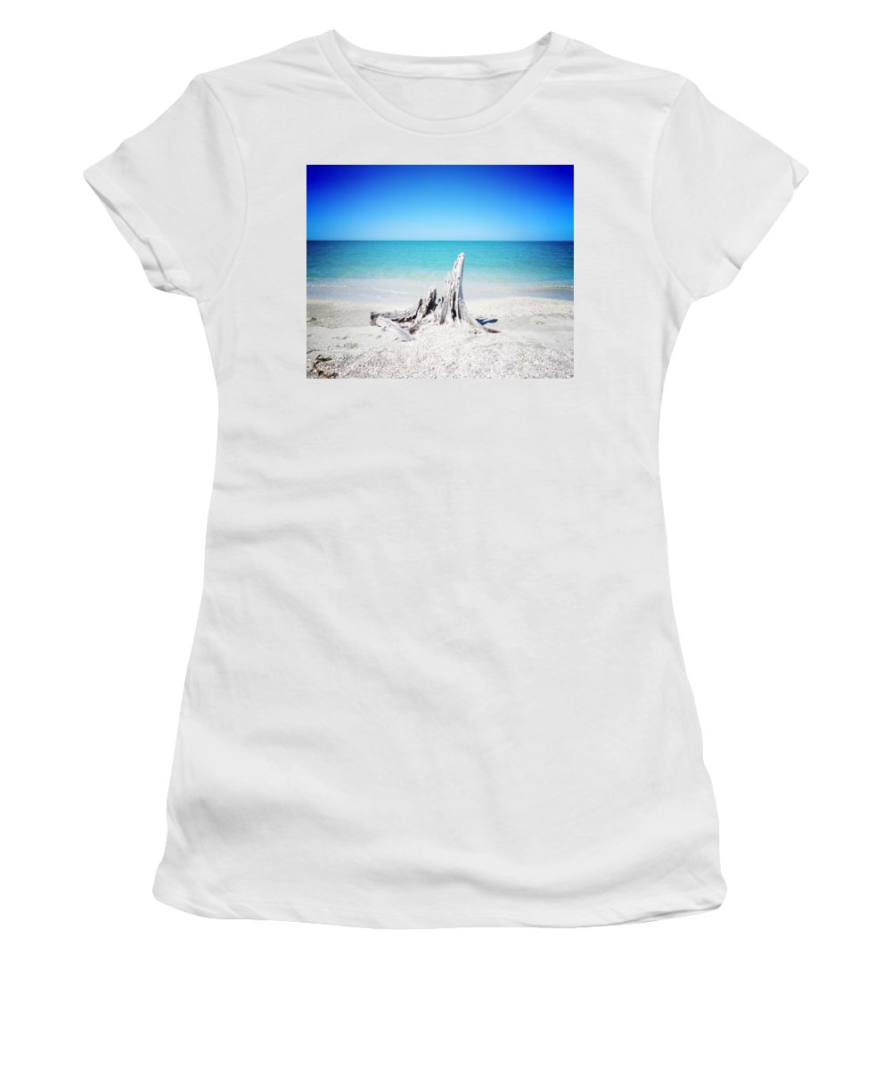 Florida Women's T-Shirt (Athletic Fit) featuring the photograph What Remains - Altered by Chris Andruskiewicz