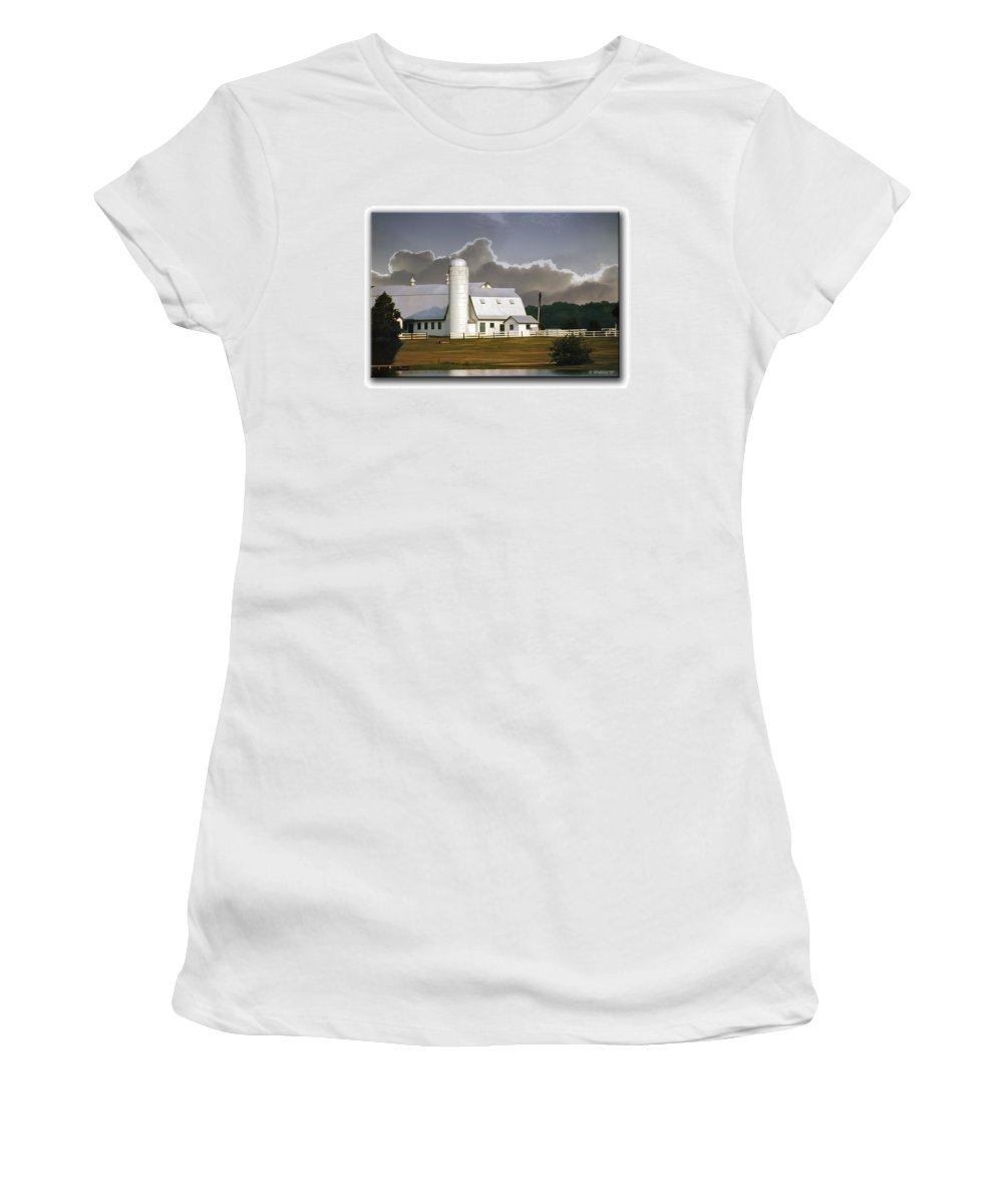 2d Women's T-Shirt (Athletic Fit) featuring the photograph White Farm by Brian Wallace