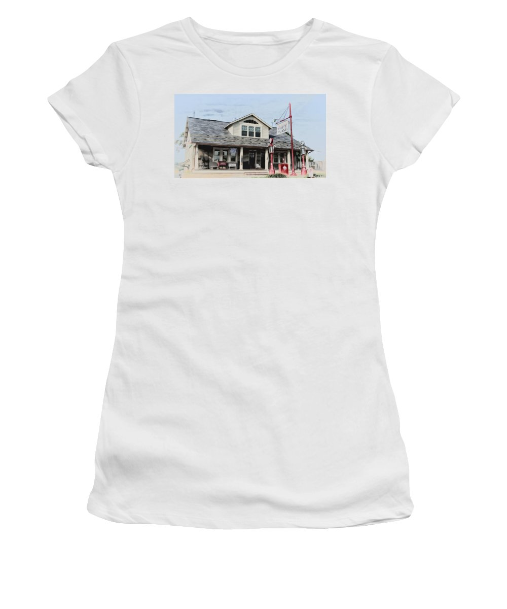 White Flash Gasoline Women's T-Shirt (Athletic Fit) featuring the photograph White Flash Gasoline by Bill Cannon