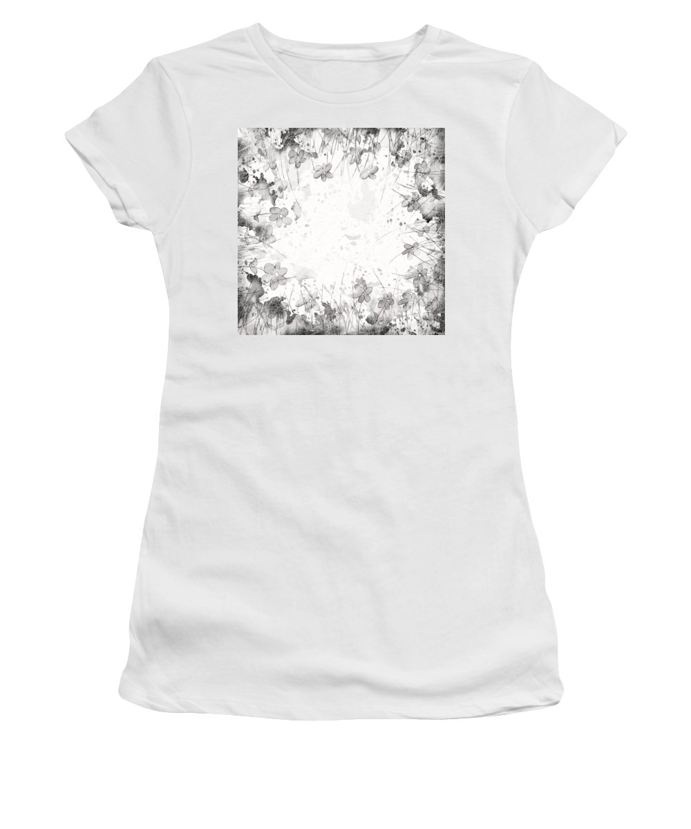 Abstract Women's T-Shirt (Athletic Fit) featuring the digital art White Space by Rachel Christine Nowicki
