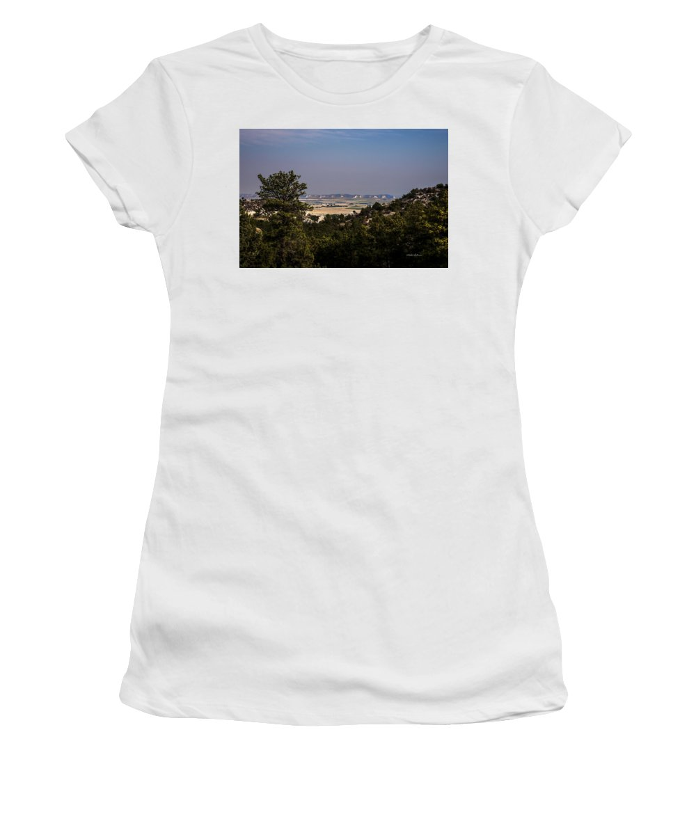 Western Nebraska Women's T-Shirt (Athletic Fit) featuring the photograph Wildcat Hills View by Edward Peterson