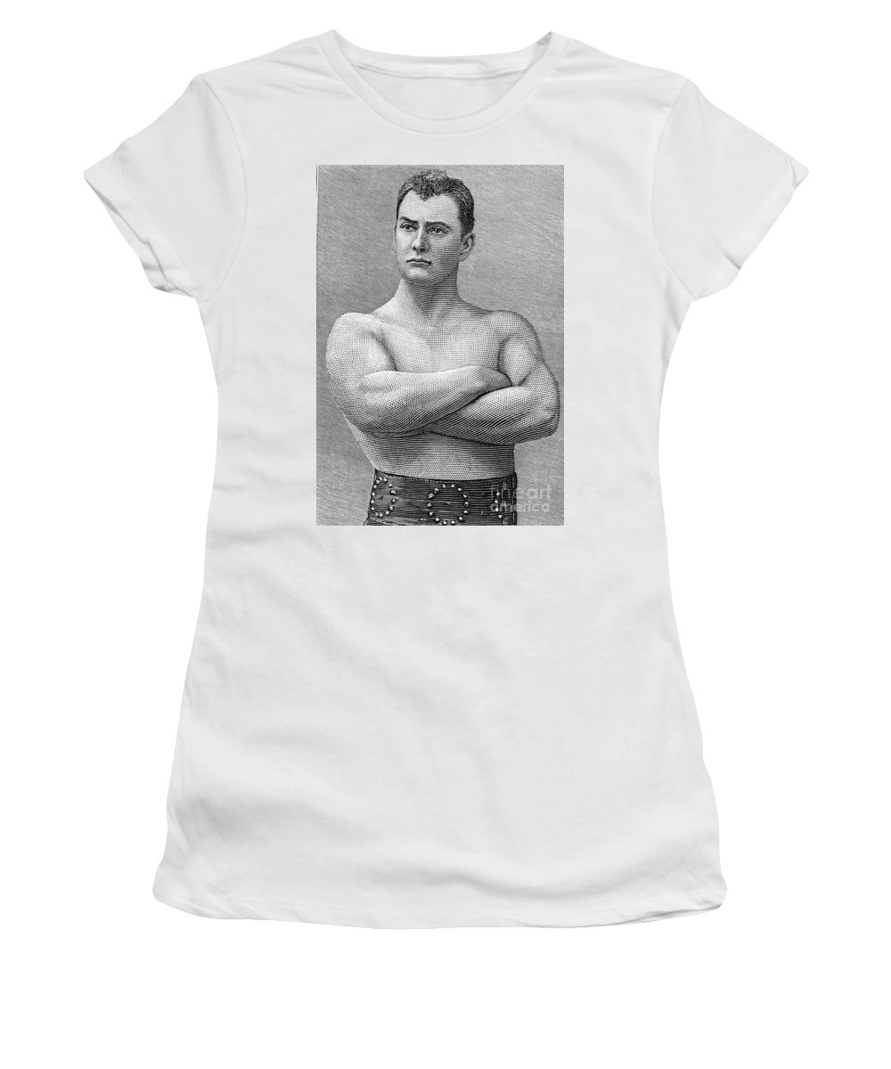 1893 Women's T-Shirt featuring the photograph William Muldoon (1852-1933) by Granger
