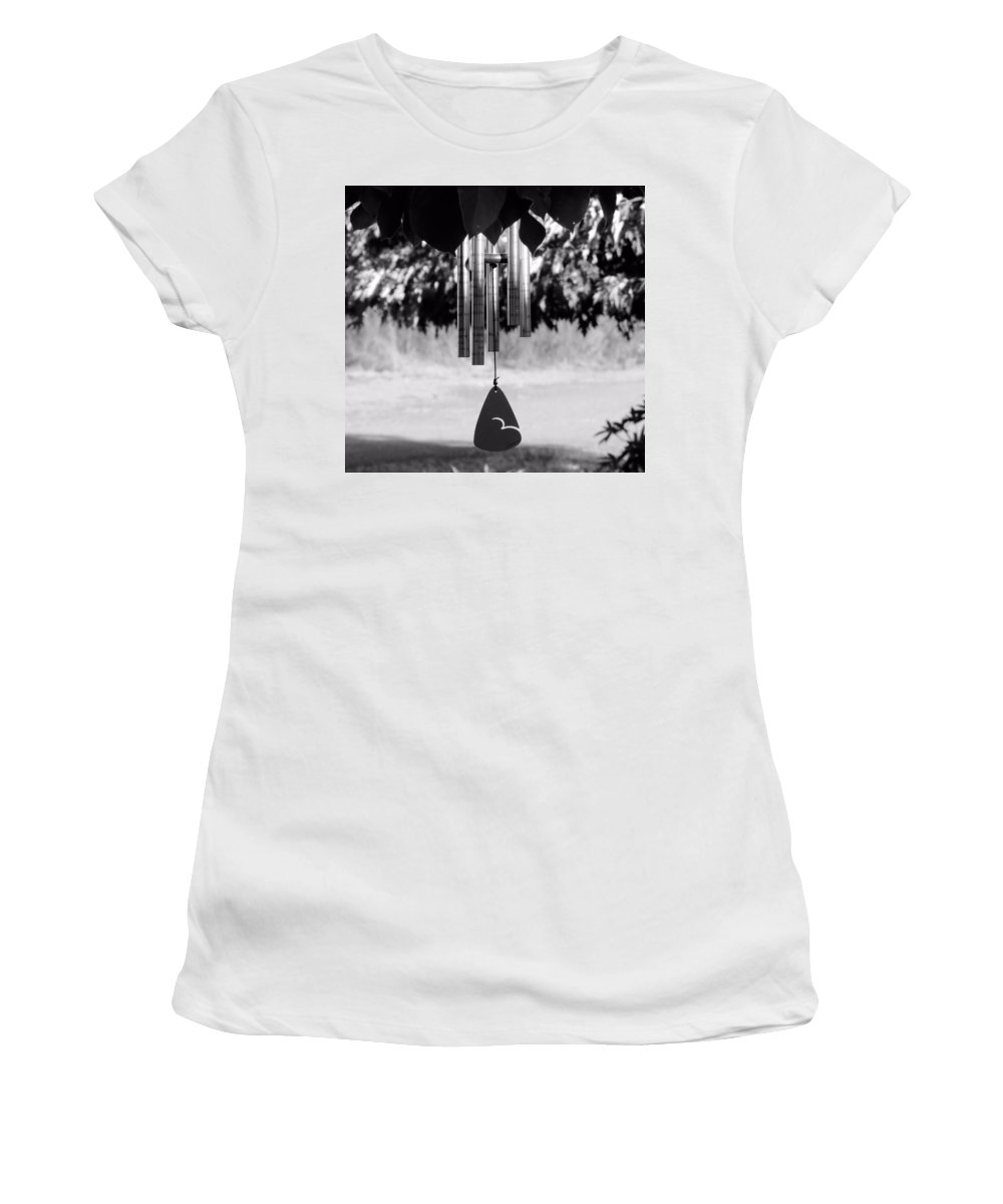 Windchimes Women's T-Shirt (Athletic Fit) featuring the photograph Windchimes by Katie Wing Vigil
