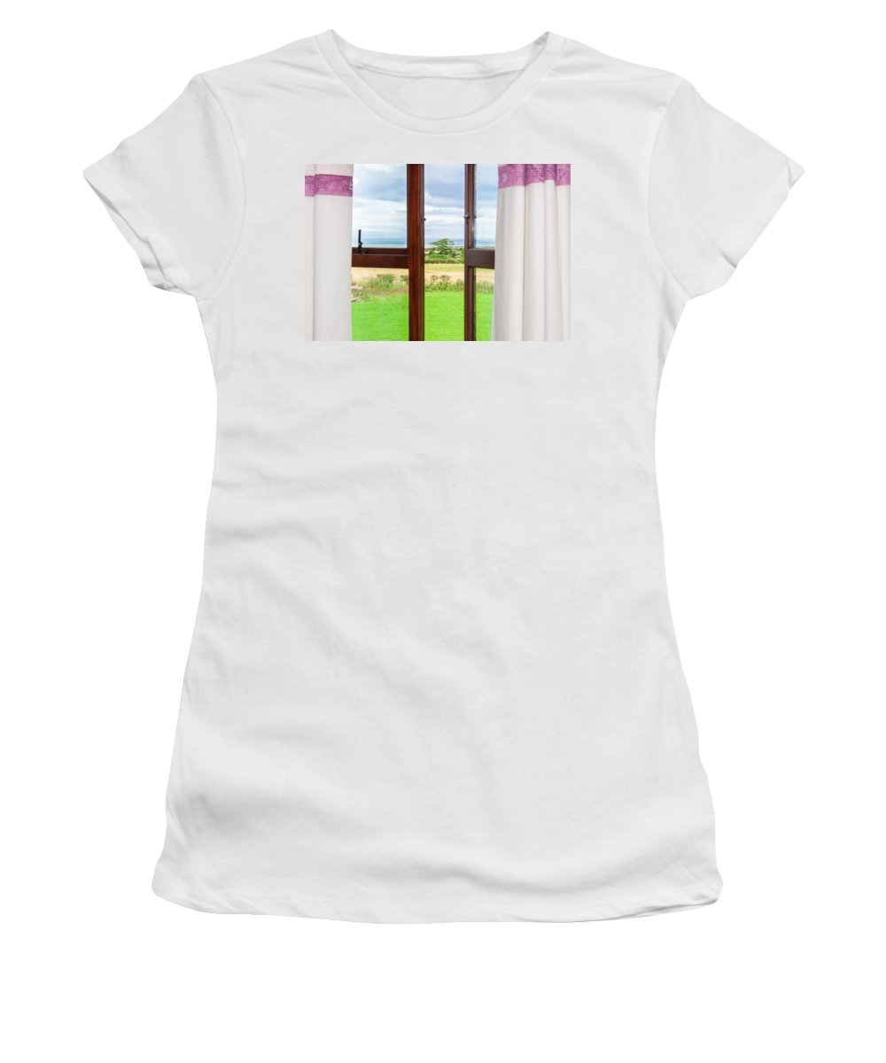 Grass Women's T-Shirt (Athletic Fit) featuring the photograph Window View by Semmick Photo