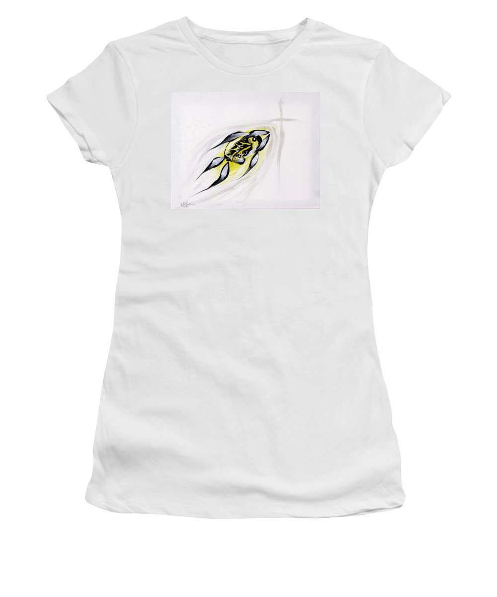 Fish Women's T-Shirt (Athletic Fit) featuring the painting With A Pure Heart by J Vincent Scarpace