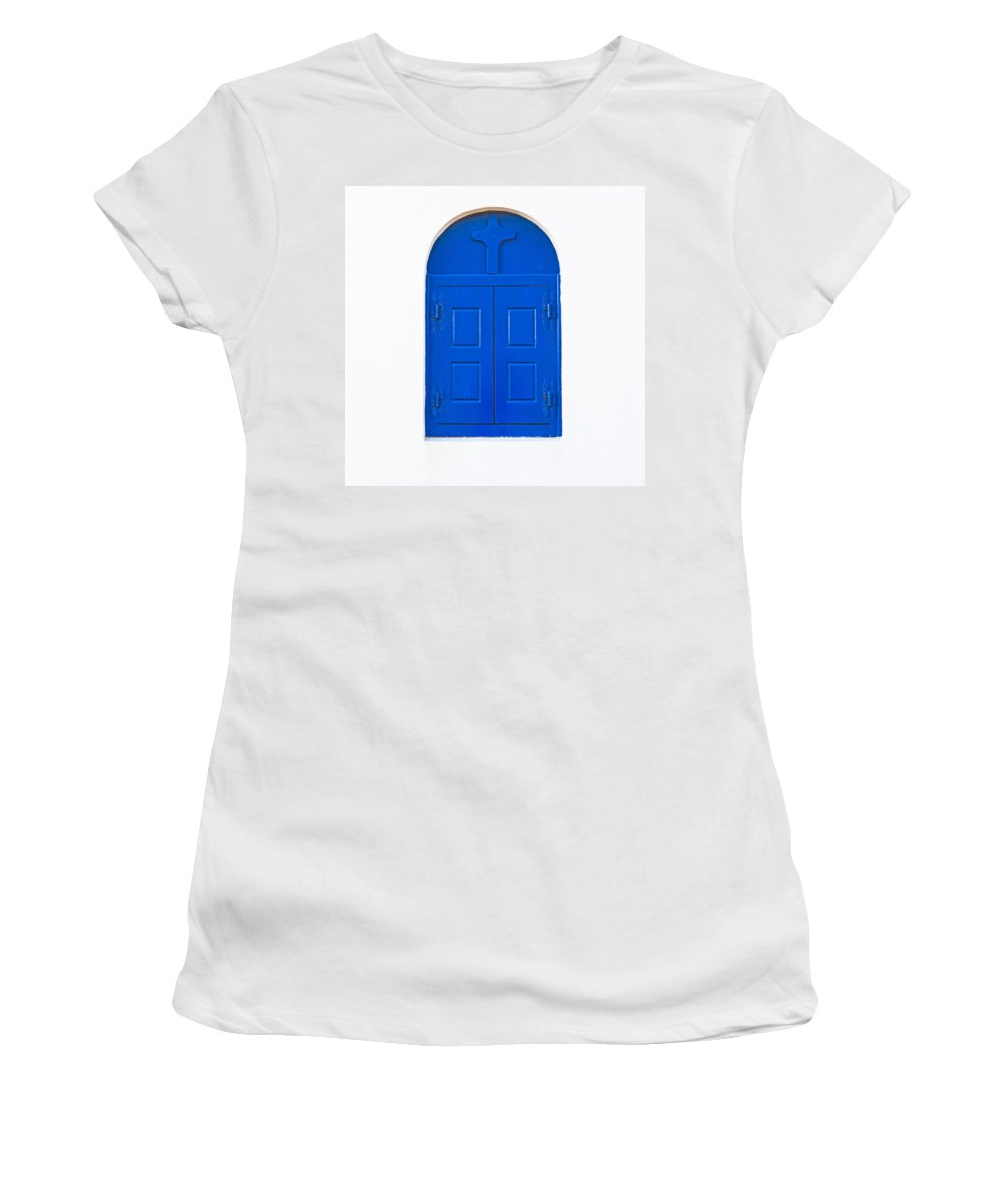 White Women's T-Shirt featuring the photograph Wooden Window by Joana Kruse
