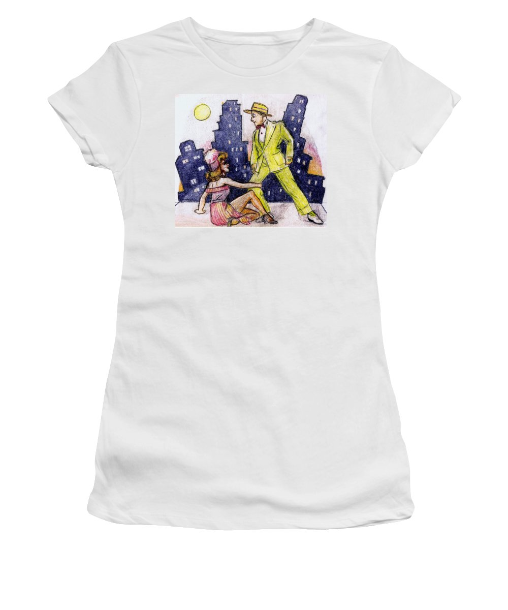 Nostalgia Women's T-Shirt (Athletic Fit) featuring the drawing Zoot Suit by Mel Thompson