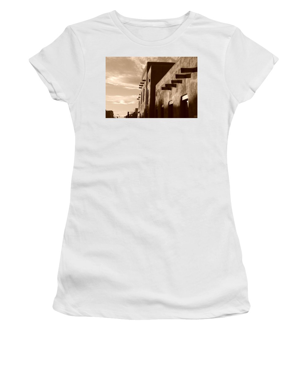 Architecture Women's T-Shirt (Athletic Fit) featuring the photograph Adobe Sunset by Rob Hans