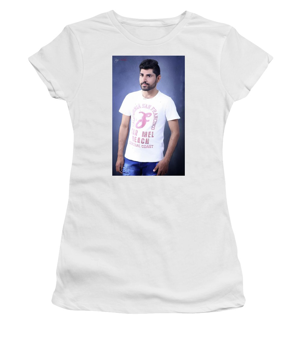 Women's T-Shirt (Athletic Fit) featuring the pyrography ART by Naveed Abbas
