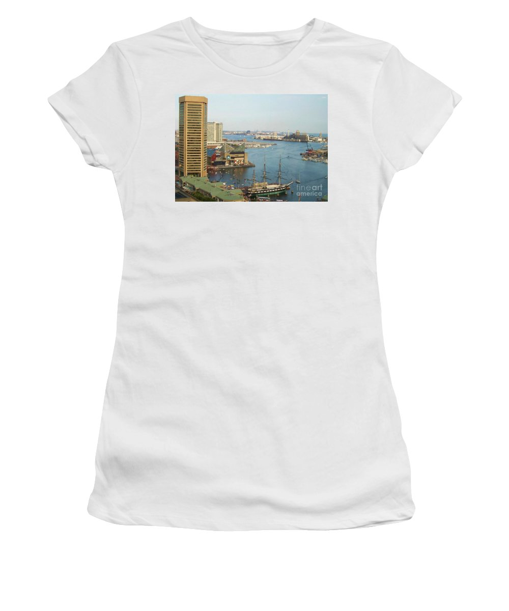 Baltimore Women's T-Shirt (Athletic Fit) featuring the photograph Baltimore by Debbi Granruth