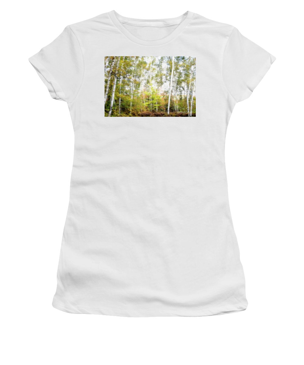 Birches Women's T-Shirt featuring the photograph Birch Forest by Oleksiy Maksymenko