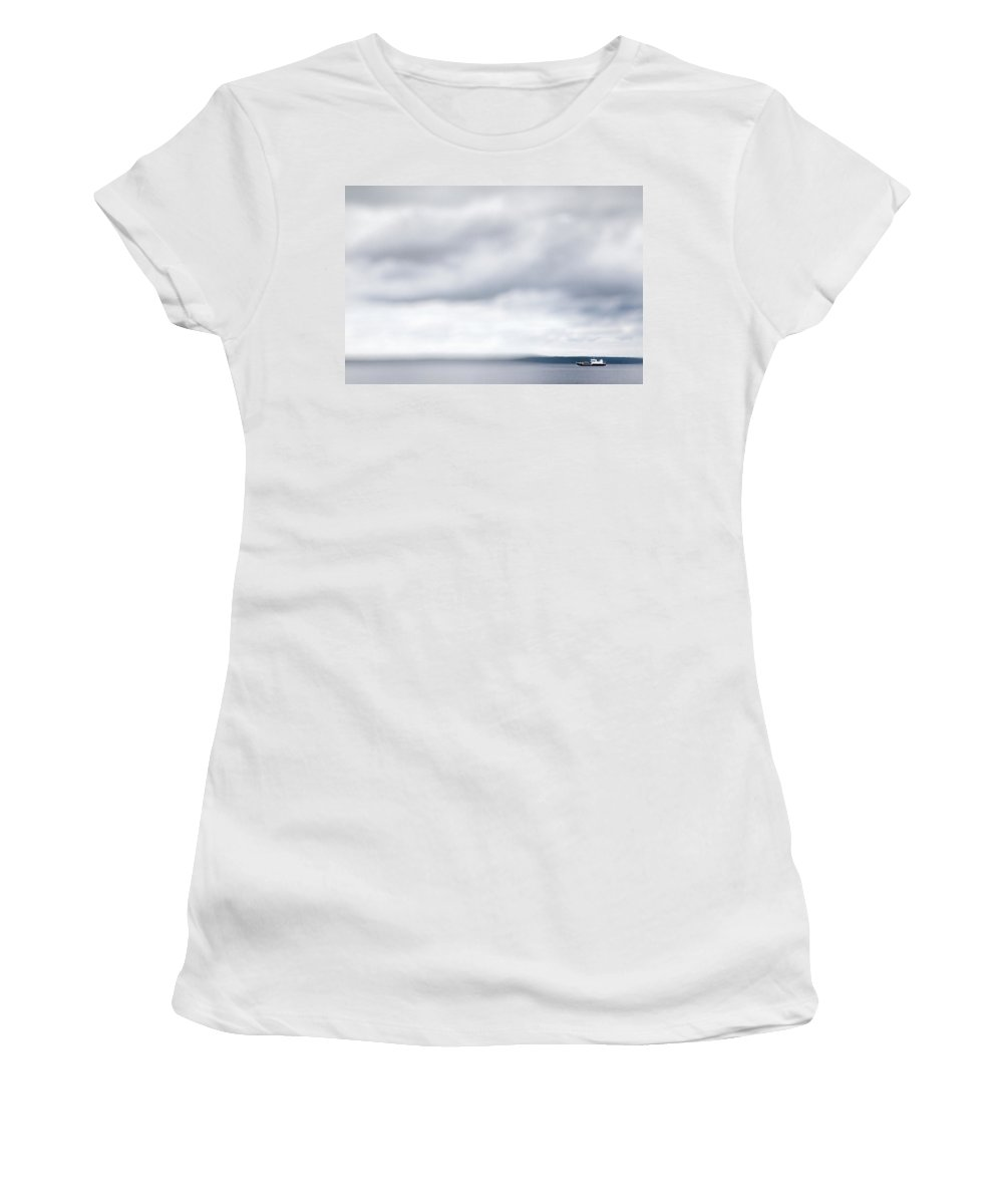 Art Women's T-Shirt (Athletic Fit) featuring the photograph Boat #9224 by Andrey Godyaykin
