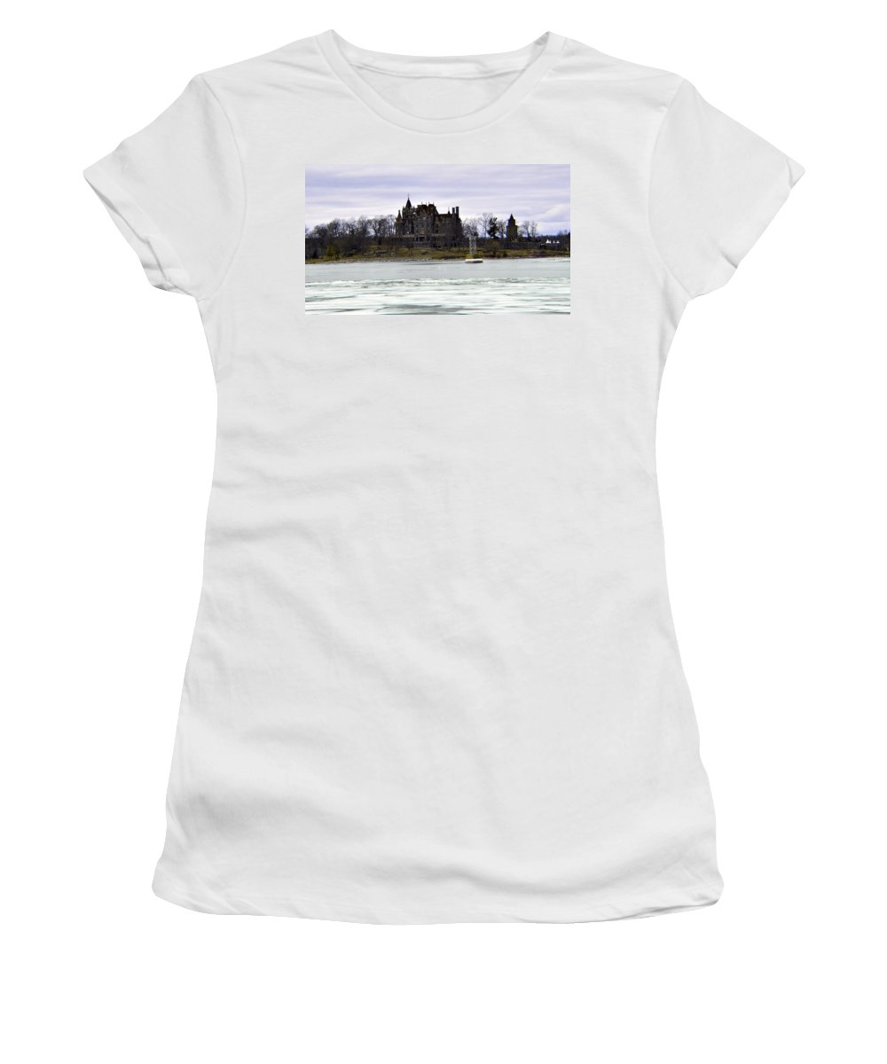 2 - 24 - 18 Women's T-Shirt featuring the photograph Boldt Castle by Joseph F Safin