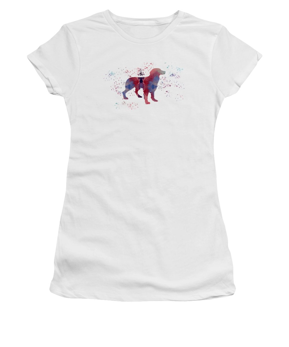 Brittany Women's T-Shirt (Athletic Fit) featuring the painting Brittany by Steph J Marten