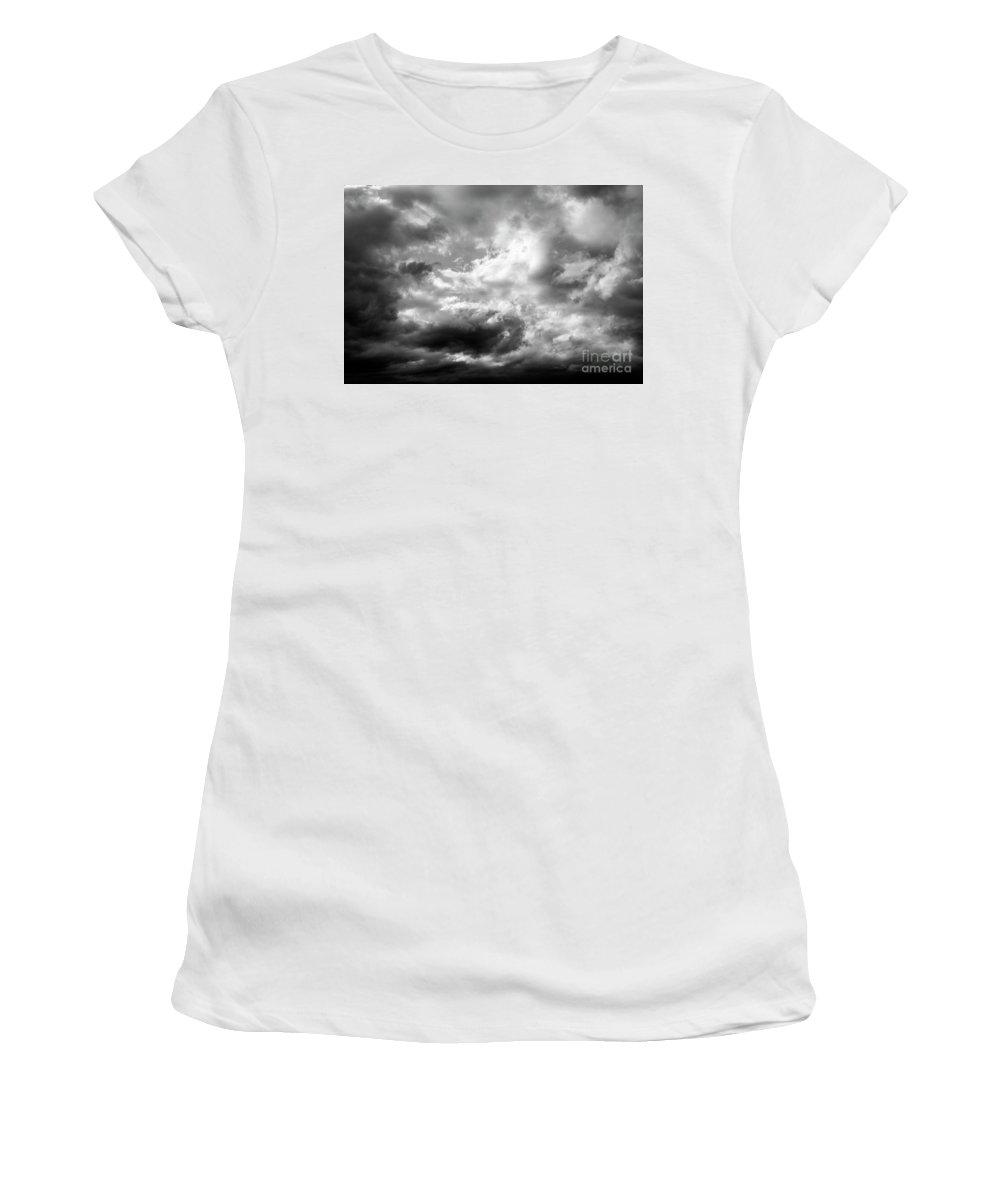 Atmosphere Women's T-Shirt featuring the photograph Cumulonimbus Clouds by Jim Corwin