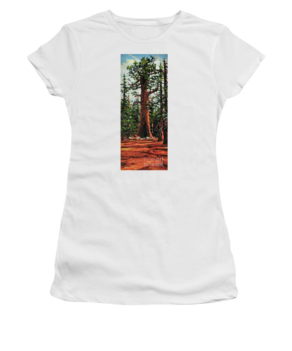 General Sherman Women's T-Shirt (Athletic Fit) featuring the painting General Sherman by Donald Maier