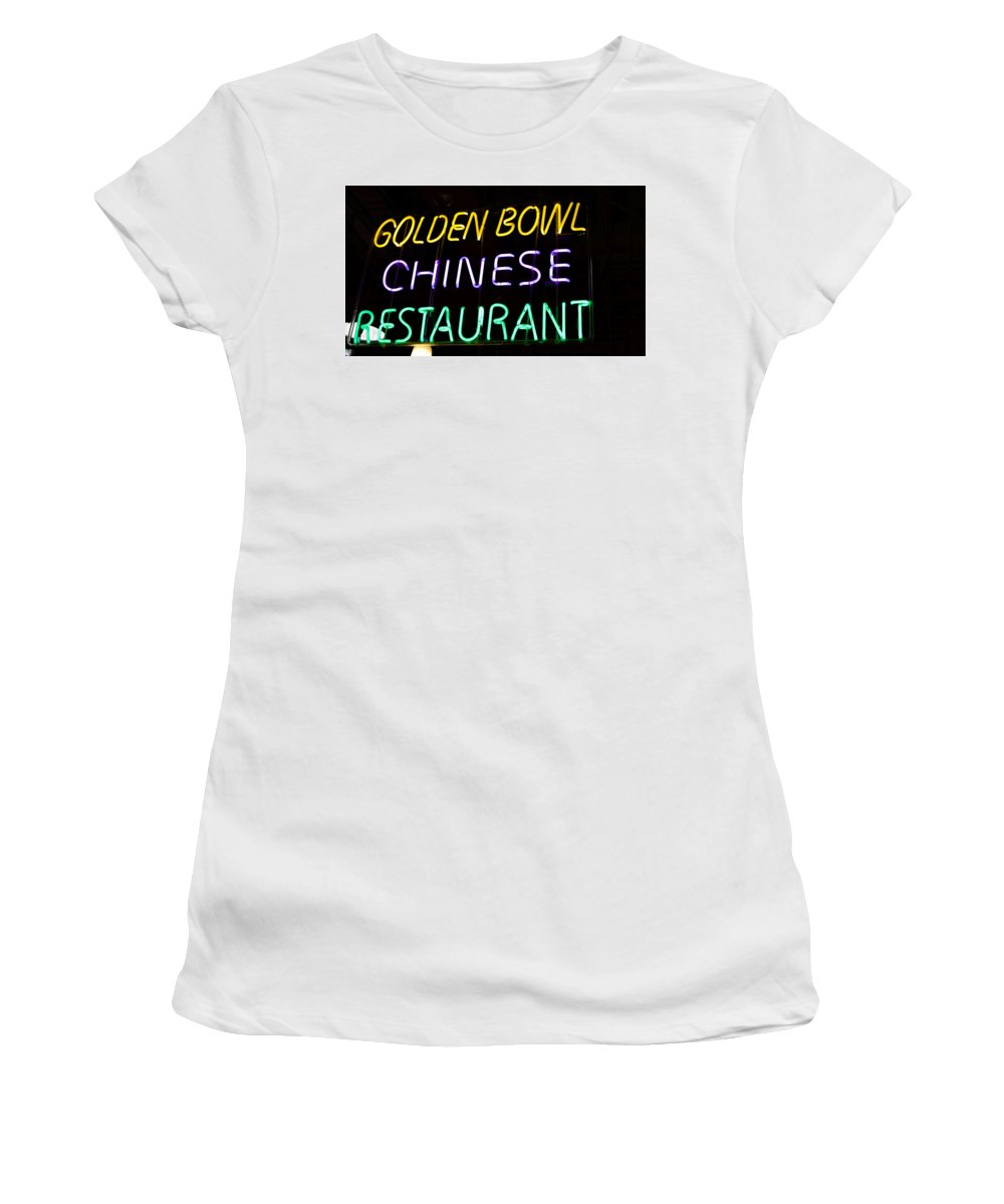 Women's T-Shirt (Athletic Fit) featuring the photograph Golden Bowl by Ronald Watkins
