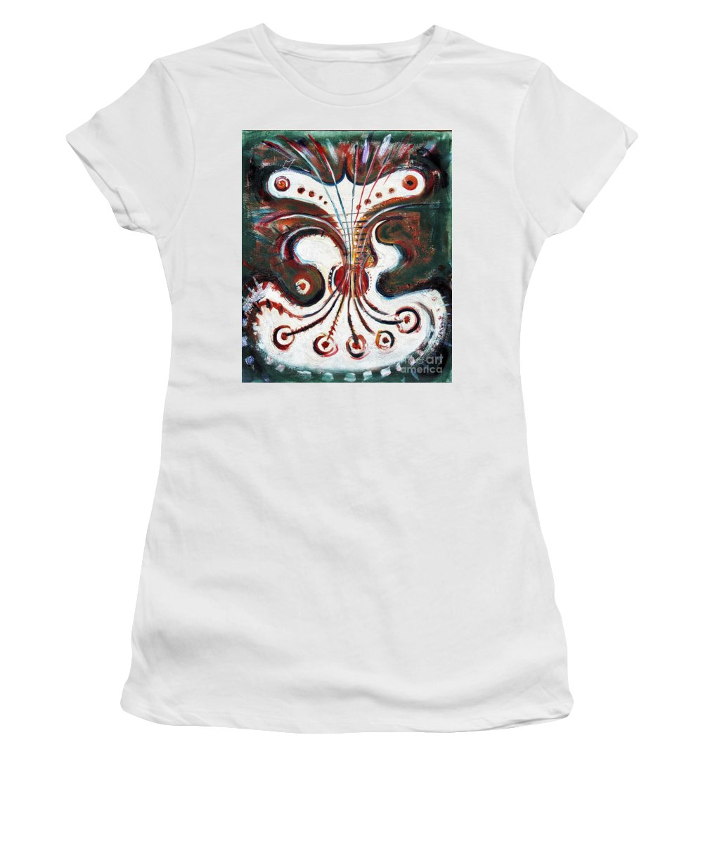 Music Women's T-Shirt (Athletic Fit) featuring the painting Guitar by Louis Zeno Lawrence