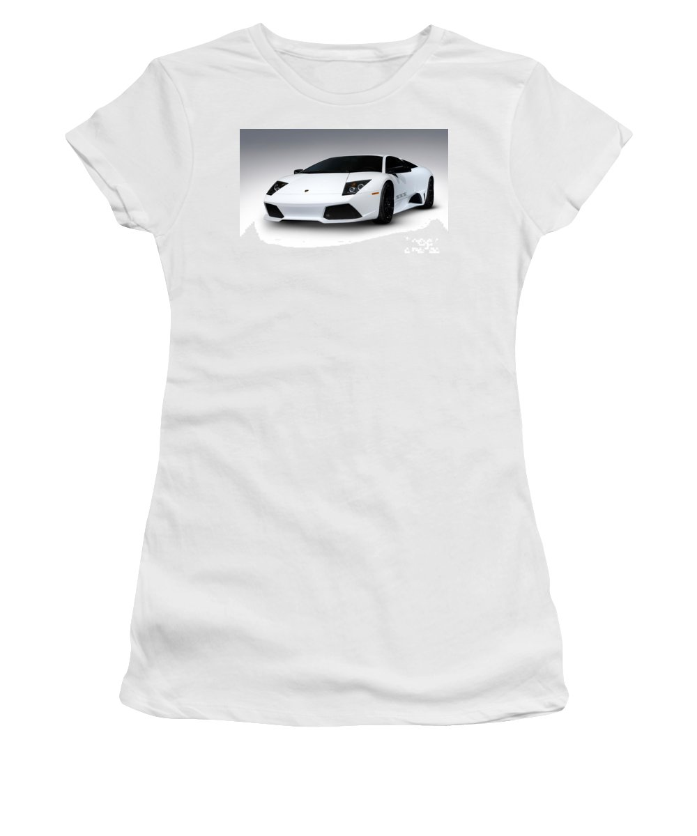 Lamborghini Women's T-Shirt featuring the photograph Lamborghini Murcielago Lp640 Coupe by Oleksiy Maksymenko