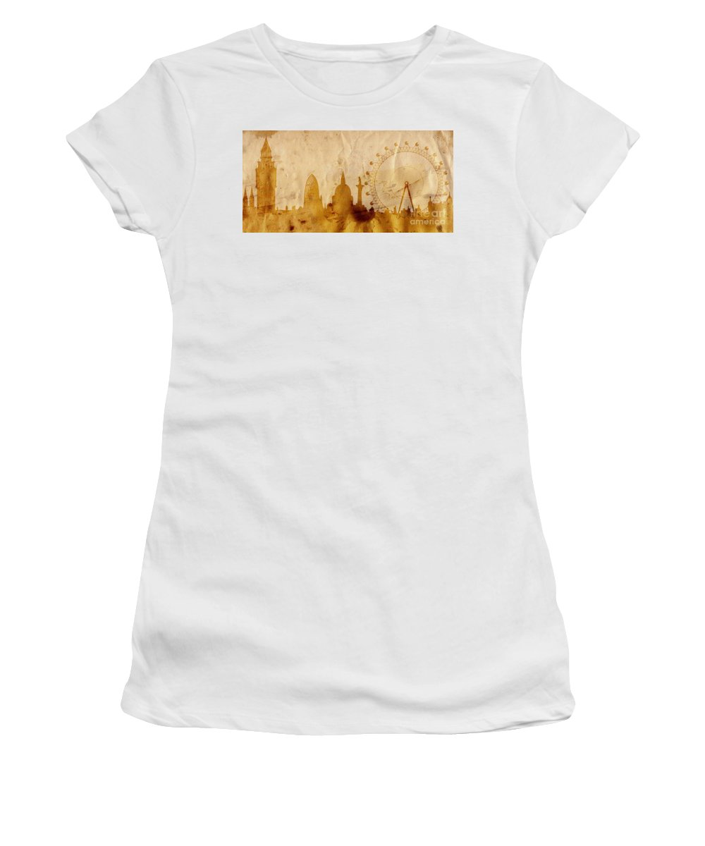 London Women's T-Shirt (Athletic Fit) featuring the mixed media London by Michal Boubin