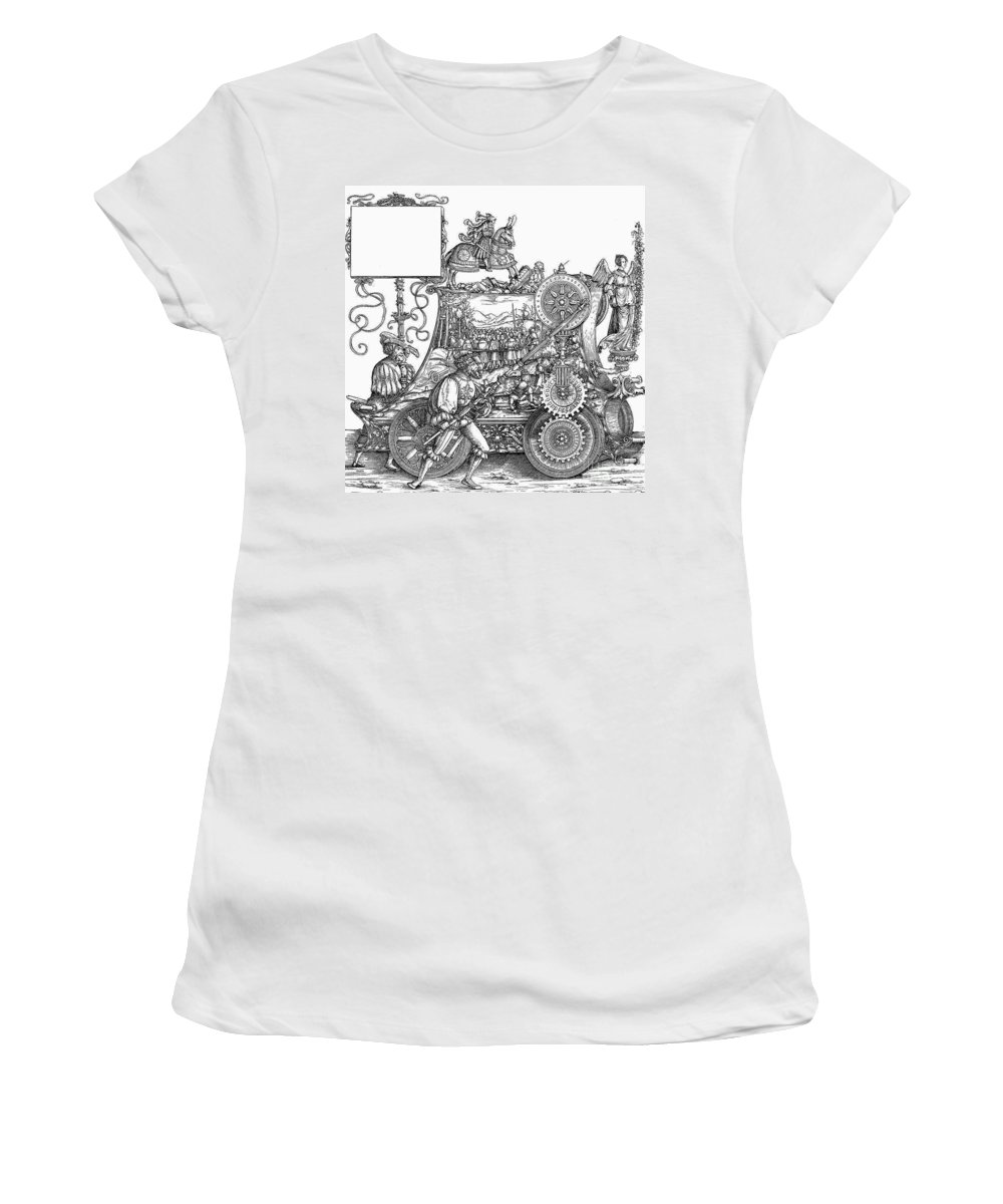16th Century Women's T-Shirt featuring the drawing Maximilian I 1459-1519 by Granger