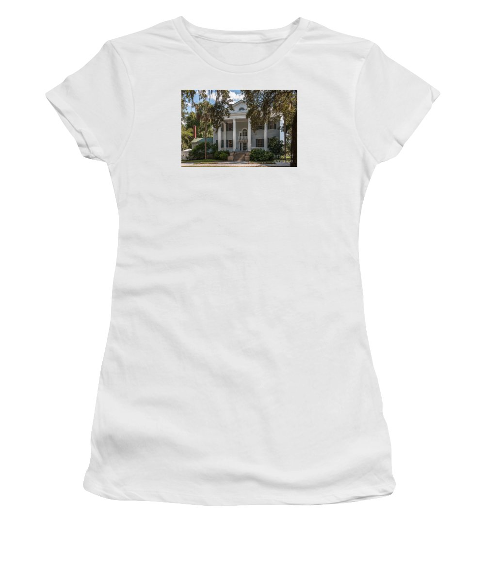 Slave Cabin Women's T-Shirt (Athletic Fit) featuring the photograph Mcleod Plantation by Dale Powell