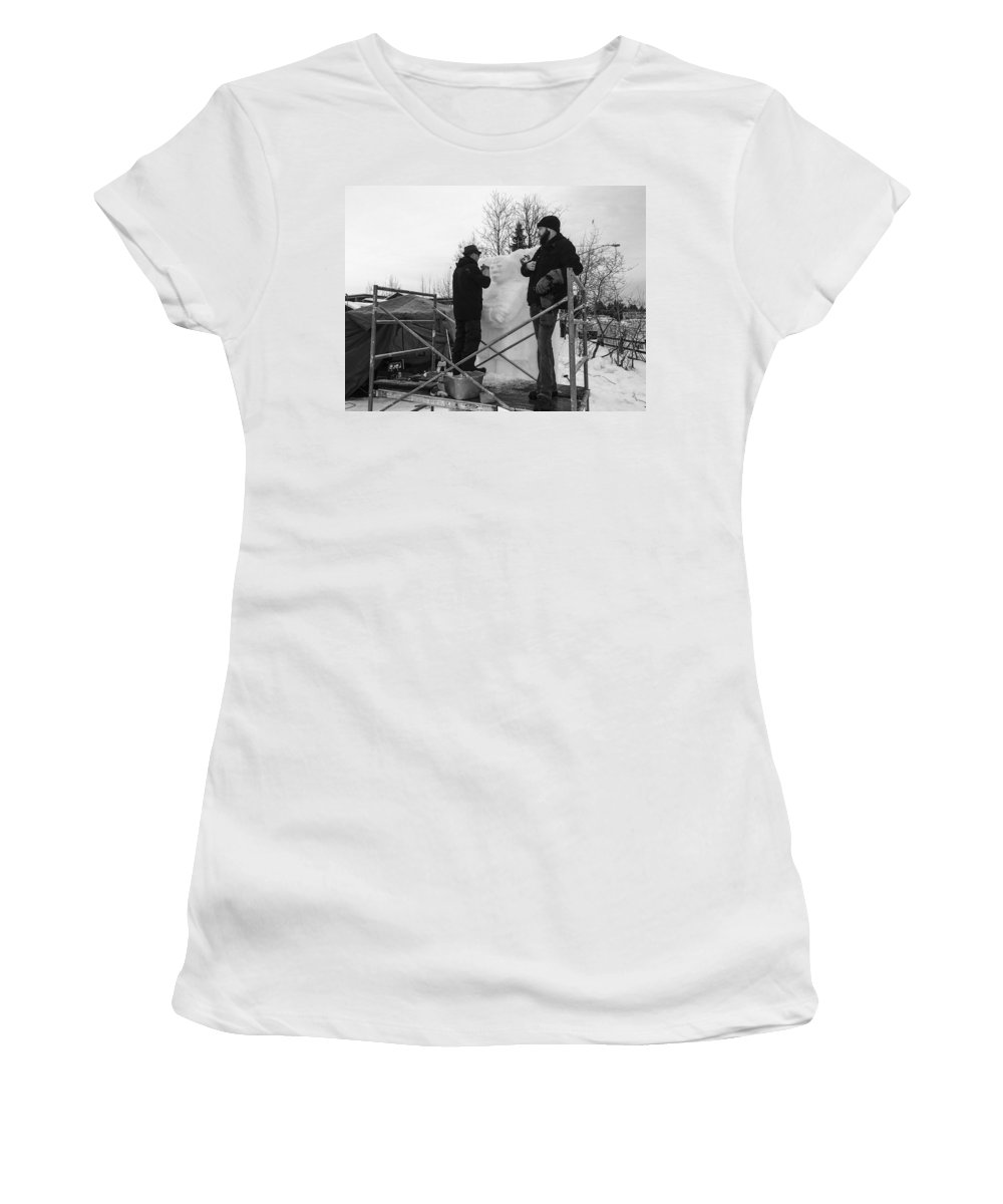 Mccall Women's T-Shirt (Athletic Fit) featuring the photograph MLK by Angus Hooper Iii