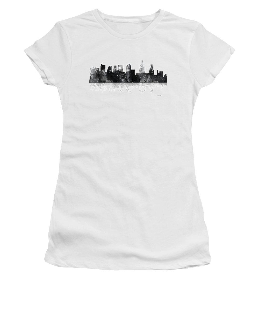 Philadelphia Pennsylvania Skyline Women's T-Shirt featuring the digital art Philadelphia Pennsylvania Skyline by Marlene Watson