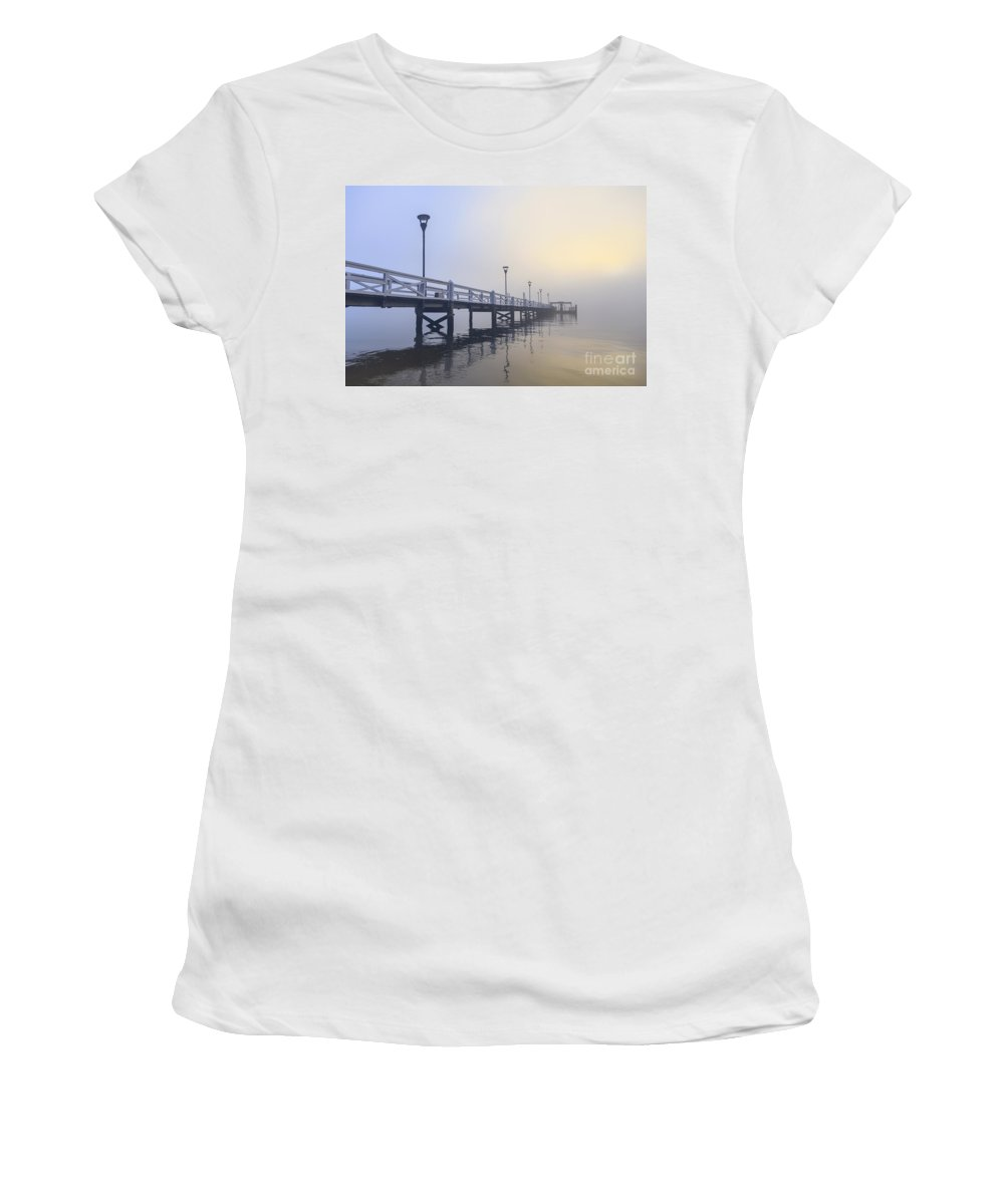 Kremsdorf Women's T-Shirt featuring the photograph Softly As I Leave You by Evelina Kremsdorf