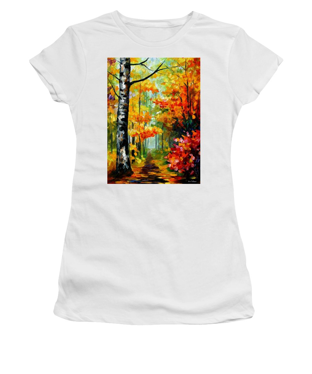 Afremov Women's T-Shirt (Athletic Fit) featuring the painting Soul Time by Leonid Afremov