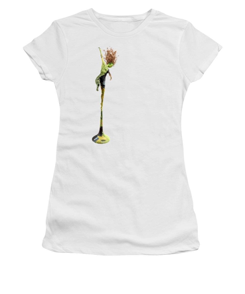 T-shirt Women's T-Shirt featuring the mixed media Spread Wings by Adam Long