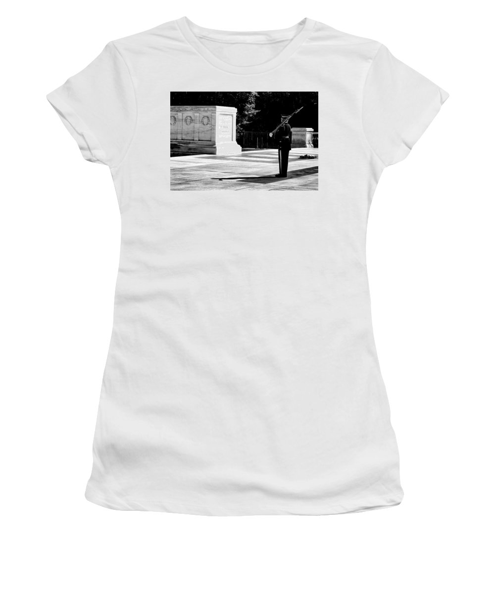 Arlington Women's T-Shirt (Athletic Fit) featuring the photograph Standing His Post by Paul W Faust - Impressions of Light