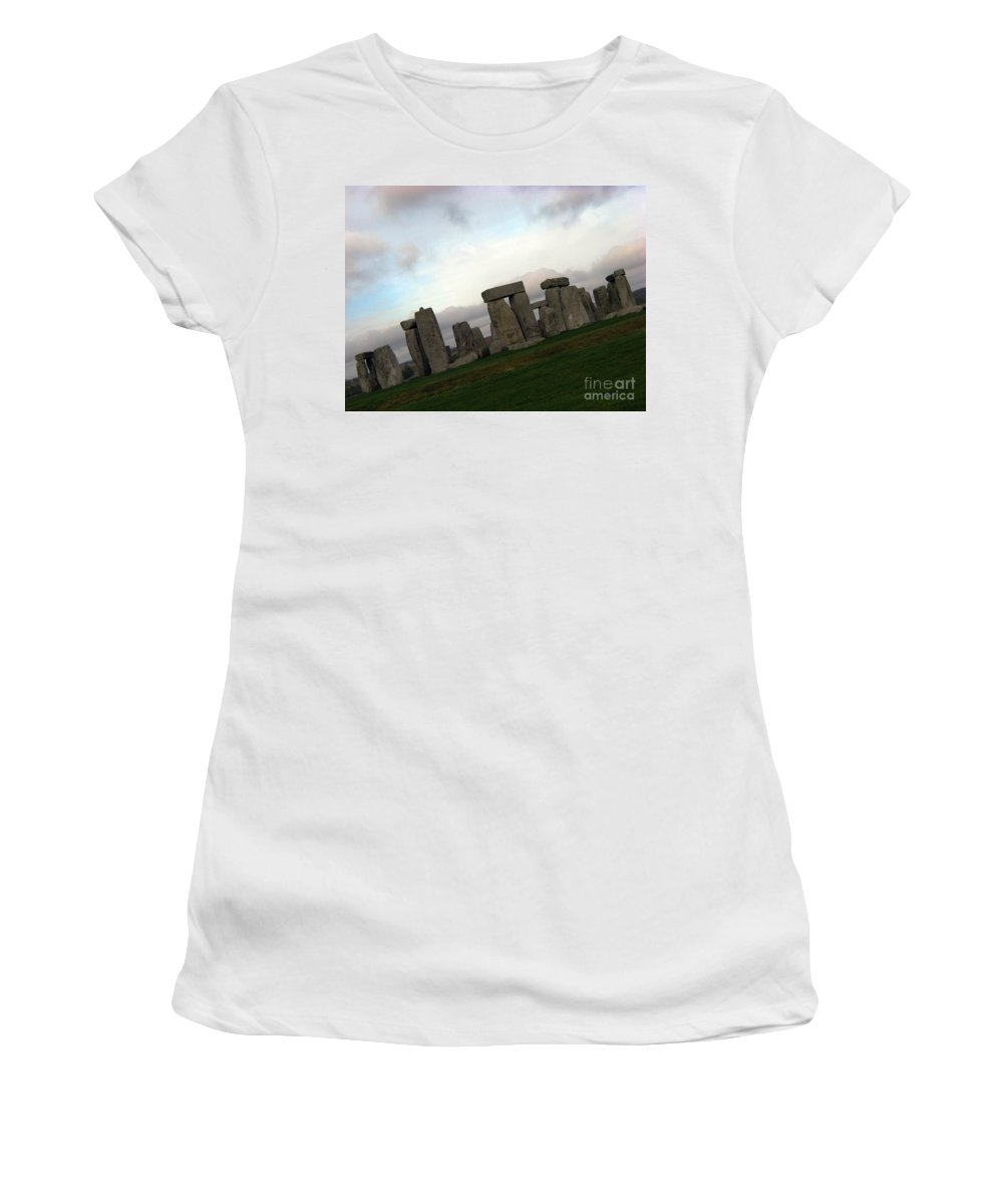 Stonehenge Women's T-Shirt (Athletic Fit) featuring the photograph Stonehenge by Amanda Barcon