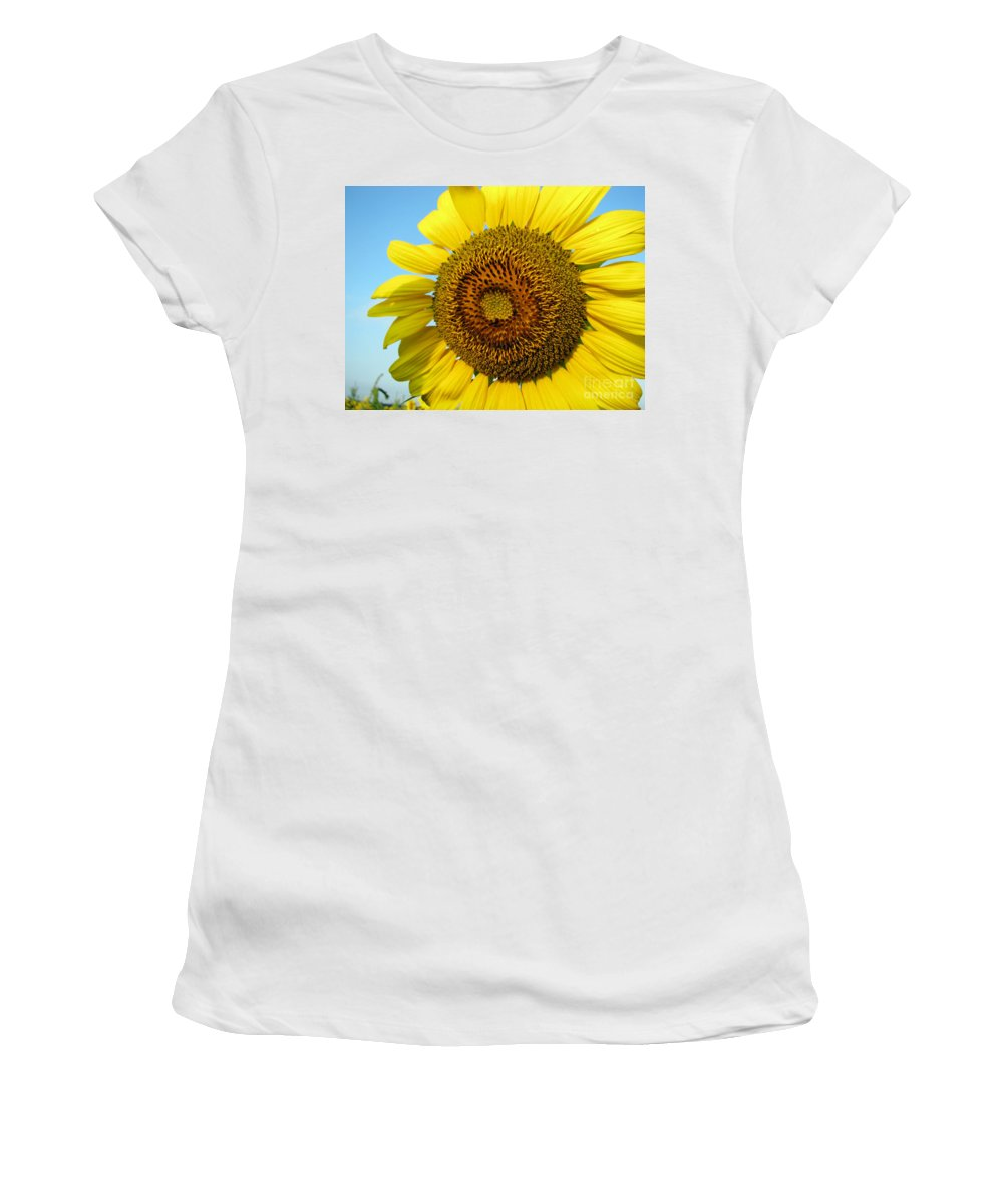 Sunflower Women's T-Shirt (Athletic Fit) featuring the photograph Sunflower Series by Amanda Barcon
