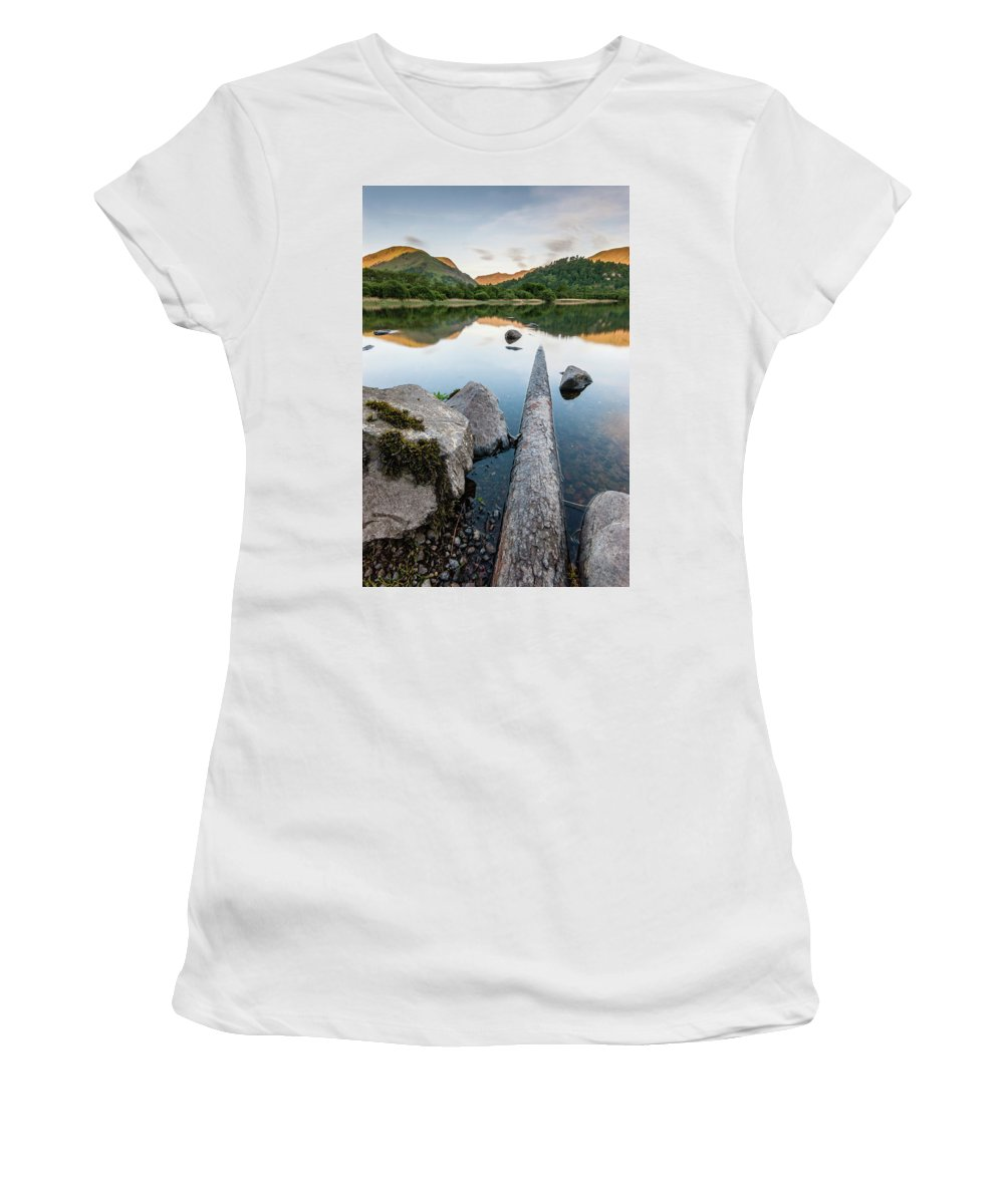 Landscape Women's T-Shirt featuring the photograph Sunrise At Ullswater, Lake District, North West England by Anthony Lawlor