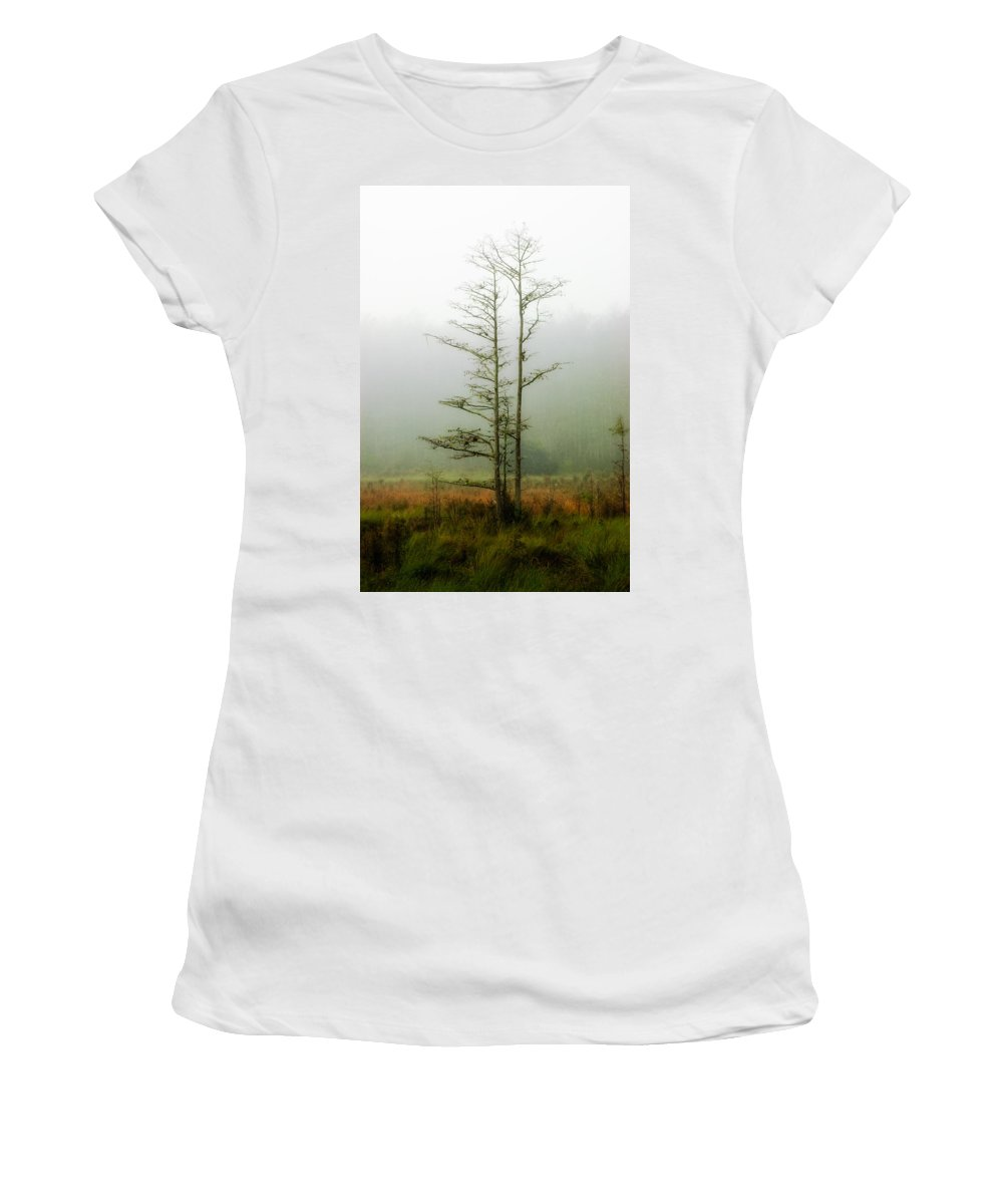 Tree Women's T-Shirt featuring the photograph The Foggy Dew by Rich Leighton