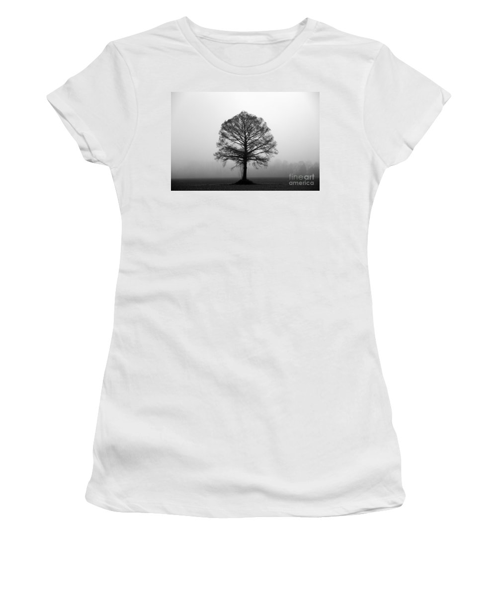 Tree Women's T-Shirt (Athletic Fit) featuring the photograph The Tree by Amanda Barcon
