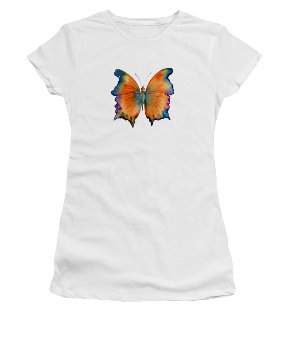 Wizard Butterfly Women's T-Shirt featuring the painting 1 Wizard Butterfly by Amy Kirkpatrick