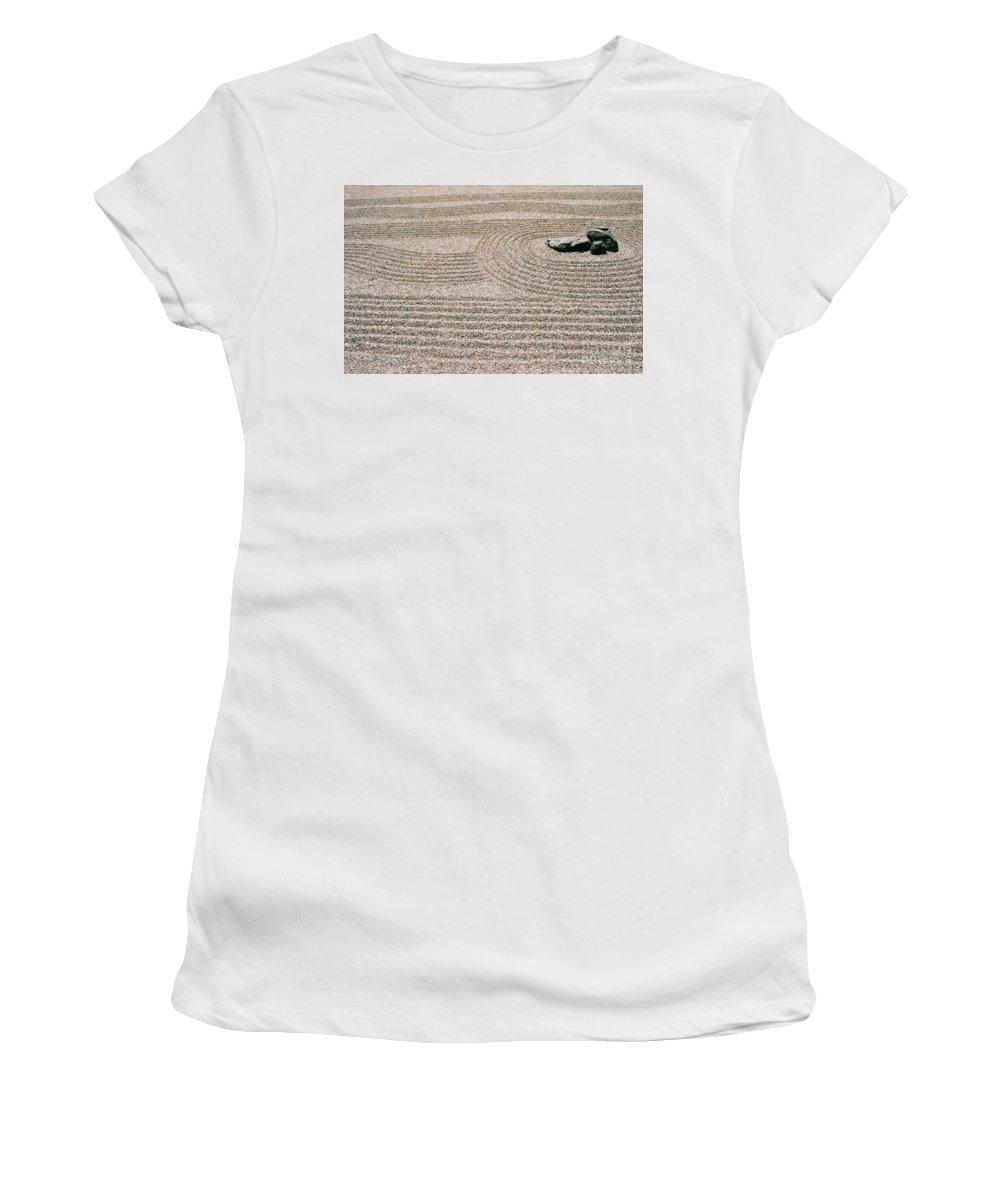 Zen Women's T-Shirt (Athletic Fit) featuring the photograph Zen Garden by Dean Triolo