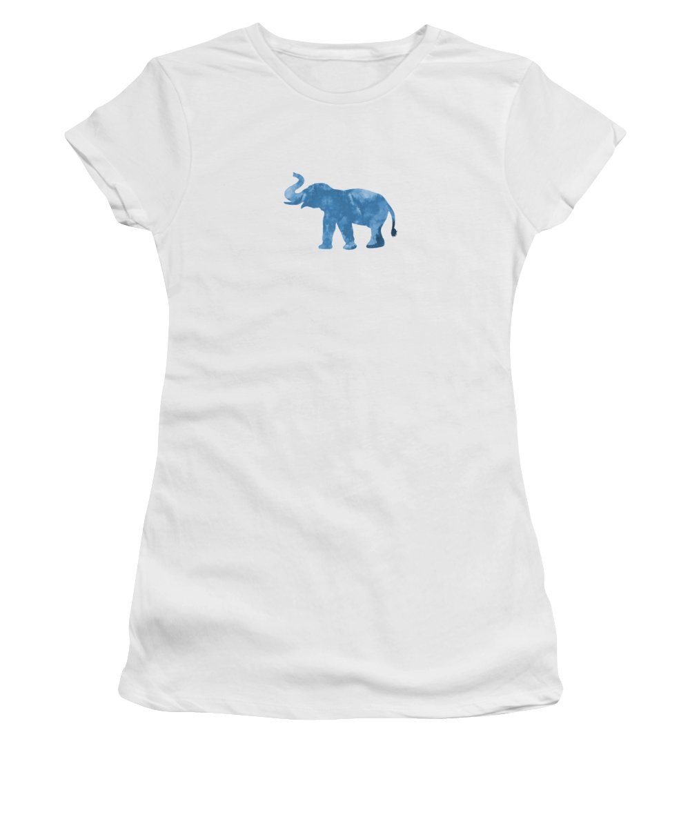 Elephant Women's T-Shirt (Athletic Fit) featuring the painting Elephant by Steph J Marten