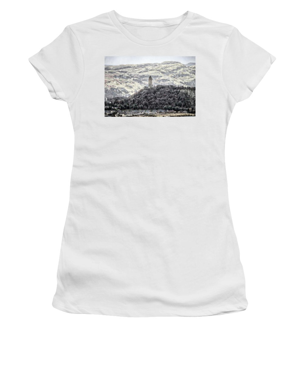Scotland United Kingdom Uk Women's T-Shirt (Athletic Fit) featuring the photograph Scotland United Kingdom Uk by Paul James Bannerman