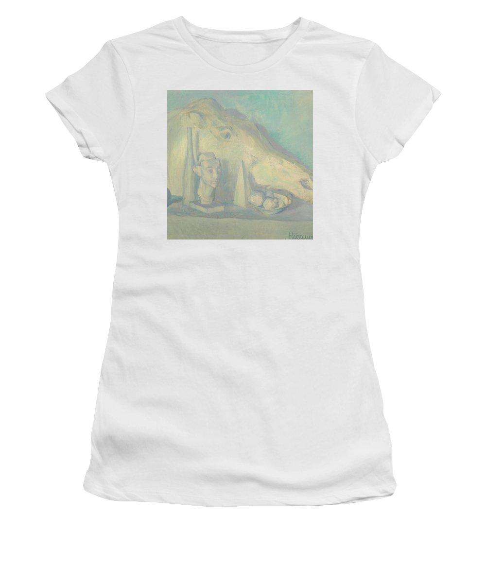 Sculpture Women's T-Shirt featuring the painting Still Life by Robert Nizamov