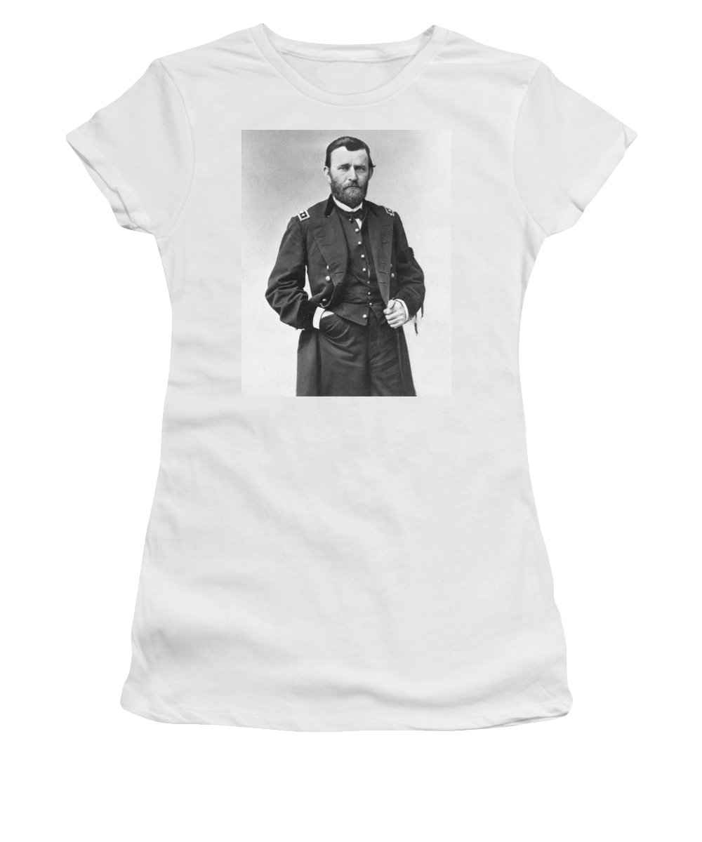 1860s Women's T-Shirt featuring the photograph Ulysses S. Grant (1822-1885) by Granger