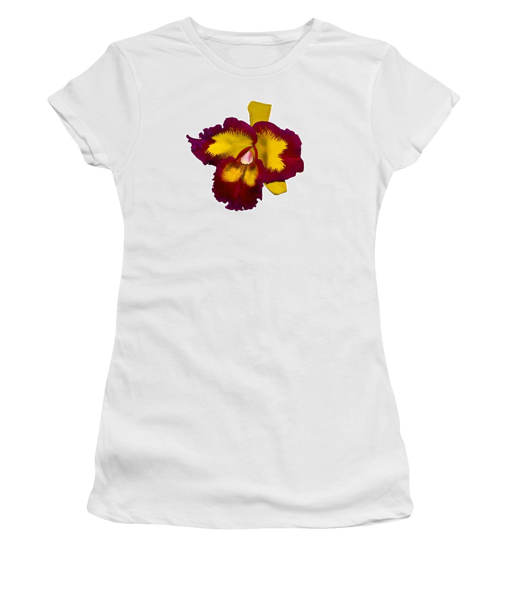 Orquid Women's T-Shirt (Athletic Fit) featuring the photograph Orquid by Galeria Trompiz