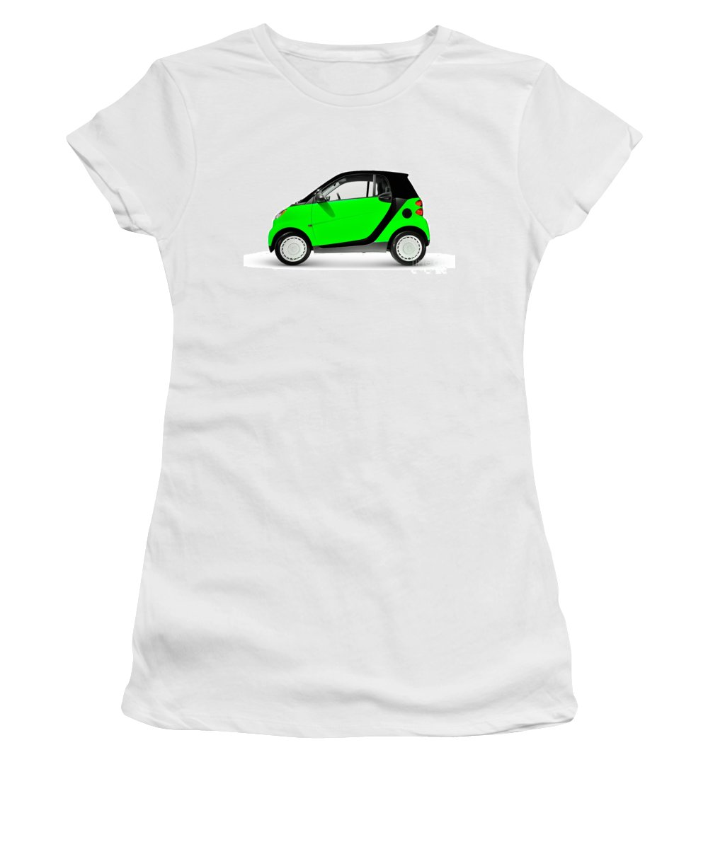 Smart Women's T-Shirt featuring the photograph Green Mini Car by Oleksiy Maksymenko