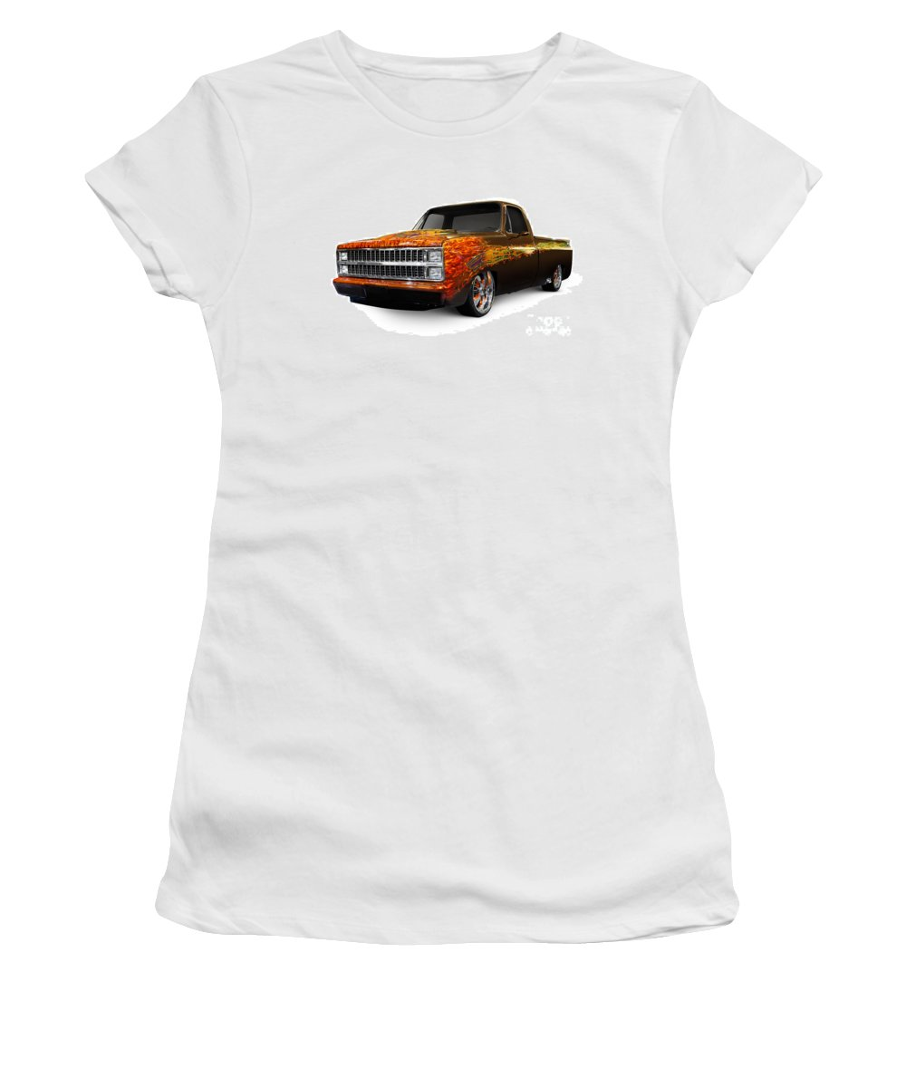 Hot Rod Women's T-Shirt featuring the photograph Hot Rod Chevrolet Scotsdale 1978 by Oleksiy Maksymenko